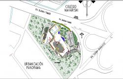 Site plan details of multi-specialty hospital building dwg file