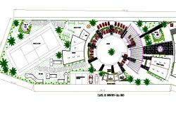 Site plan details of tourism five star hotel project dwg file