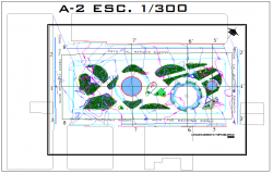 Site plan layout view detail and surveying data detail view dwg file
