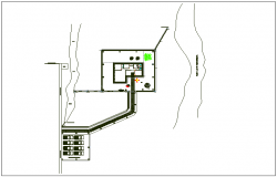 Site plan layout view of office detail dwg file