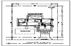 Site plan of Bungalow design drawing