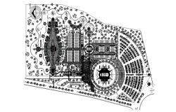 Site plan of SportsCenter in dwg file