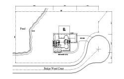Site plan of house 324.38' x 150.0' with detail dimension in dwg file