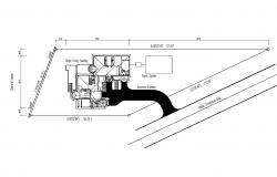Site plan of single family house 320' x 78' with detail dimension in AutoCAD