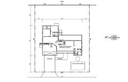 Site plan of single-family house 80'00'' x 125'00'' with detail dimension in AutoCAD