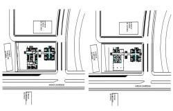 Site plan of the clinic with detail dimension in AutoCAD
