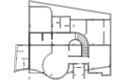 Site plan of the residential house in autocad