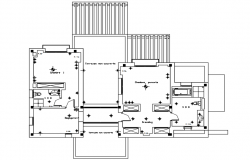 Site plan of the residential villa in autocad