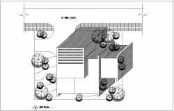 Site plan view of residential area with architecture view dwg file