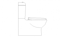 Sitting sanitary toilet detail elevation 2d view dwg file