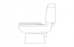 Sitting toilet detail elevation 2d view layout autocad file,