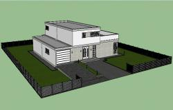 Sketchup file of the bungalow in 3d