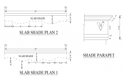 Slab structure detail elevation 2d view plan layout dwg file