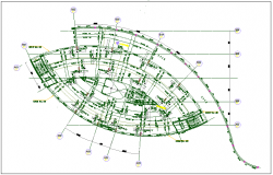 Slab structure plan detail view dwg file
