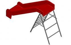 Slide design 3d Free CAD Block download