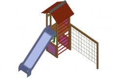 Slide design 3d model Garden Playing equipment blocks download