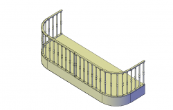 Small  balcony 3d elevation