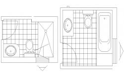 Small Bathroom Design AutoCAD drawing Plan