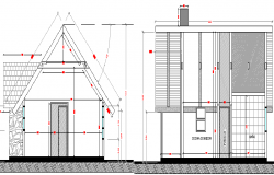 Small House Architecture Design and Section Details dwg file
