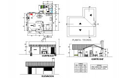 Small home plan detail
