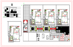 Small hotel Floor Plan & Elevation design