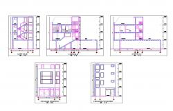 Small house cut elevation and sectional cad drawing details dwg file