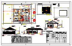 Small house design drawing with roof trust design