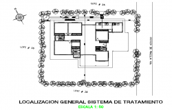 Small house layout plan autocad file