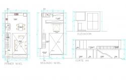 Small house plan dwg file