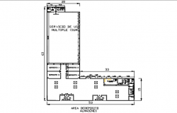 Small office building plan detail dwg file