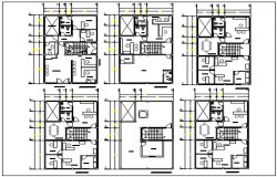 Small office plan detail and center line plan detail dwg file