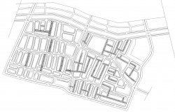Small town planning in autocad dwg files