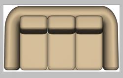 Sofa set 3d model layout 3d max file