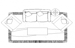 Sofa set cad blcoks free download