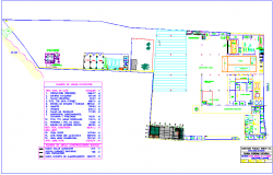 Soft drink soda factory general plan dwg file