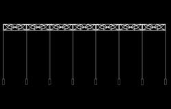 Solar coverage structure for umbrella autocad file
