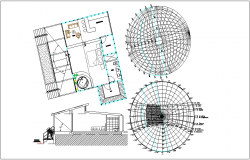Solar effect at housing building with dwg file
