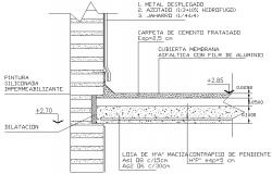 Solid plane slab detail dwg file