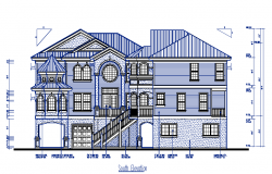 South Side Bungalows Elevation Detail in cad file