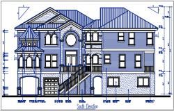 South direction plan elevation details dwg files