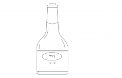 Soy sauce bottle front view dwg file