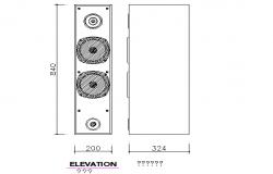 Speaker elevation details