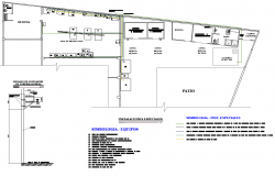 Special installation plan detail dwg file