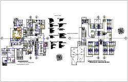 Specialist hospital of cardiology floor plan dwg file