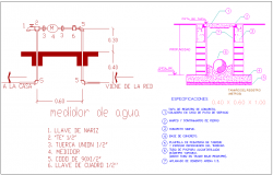 Specification with detail view of sanitary view elevation for residence area dwg file