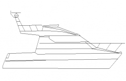 Speed boat cad block design dwg file