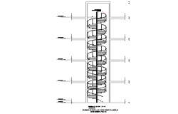 Spiral stair detail dwg file
