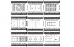 Sport Ground Design AutoCAD plan