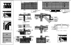 Sport center constructive details dwg file