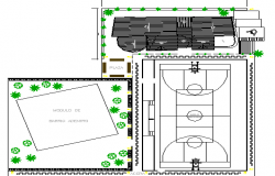 Sports Ground Architecture Design and Elevation dwg file